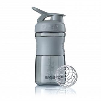 Шейкер BlenderBottle SportMixer 591мл Pebble Grey (серый графит) BB-SM20-PGRE
