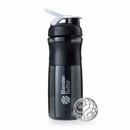 Шейкер BlenderBottle SportMixer 828мл Black/White (черный/белый) BB-SM28-BWHI