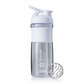 Шейкер BlenderBottle SportMixer 828мл Clear White (белый) BB-SM28-CWHI