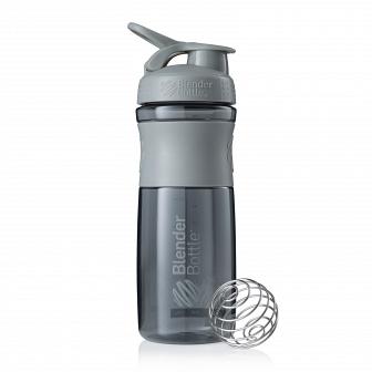 Шейкер BlenderBottle SportMixer 828мл Pebble Grey (серый графит) BB-SM28-PGRE