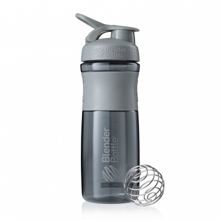 Шейкер BlenderBottle SportMixer 828мл Pebble Grey (серый графит) BB-SM28-PGRE
