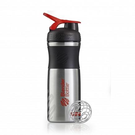 Шейкер BlenderBottle SportMixer Stainless 828мл Black/Red (черный/красный) BB-SMST-BLRE