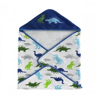 Полотенце банное Kassatex Bambini Hooded Dino Park 76х76см BHD-DP-MUL