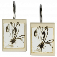 Набор из 12 крючков для шторки Creative Bath Botanical Collage