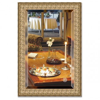 Зеркало в багетной раме с фацетом Evoform Exclusive 63х93см BY 1273