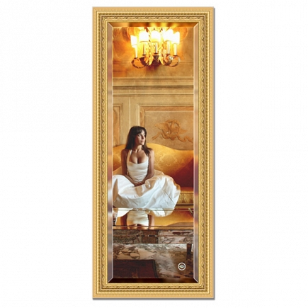 Зеркало в багетной раме с фацетом Evoform Exclusive 65х155см BY 1284