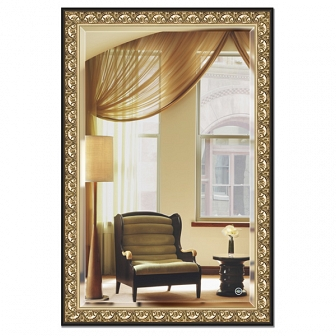 Зеркало в багетной раме с фацетом Evoform Exclusive 120х180см BY 1321