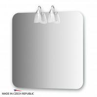 Зеркало со светильниками Ellux Classic 75х75см