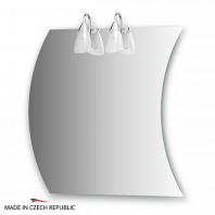 Зеркало со светильниками Ellux Classic 70х70см
