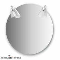 Зеркало со светильниками Ellux Classic 70x70см