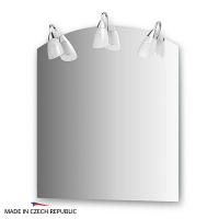Зеркало со светильниками Ellux Classic 70х80см