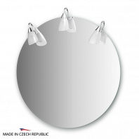 Зеркало со светильниками Ellux Classic 80x80см