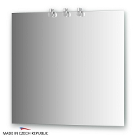 Зеркало со светильниками Ellux Cristal 80х75см