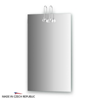 Зеркало со светильниками Ellux Cristal 45х75см