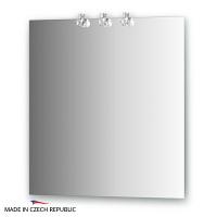 Зеркало со светильниками Ellux Cristal 70х75см