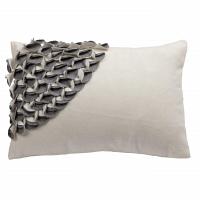 Подушка с объемным узором Alicia White-Gray DG Home Pillows