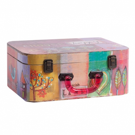 Декоративный чемодан с акриловыми ручками Arcobaleno Grande DG Home Decor DG-D-816A