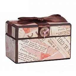 Декоративная коробка с бархатной лентой Paluvras DG Home Decor DG-D-822B