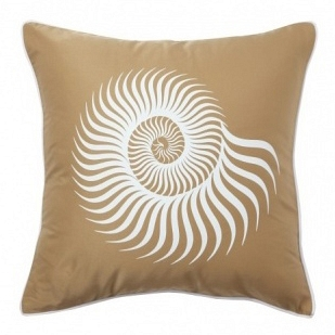 Подушка с принтом Sea Shell Mustard DG Home Pillows DG-D-PL04MS