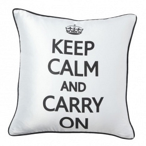 Подушка с короной и надписью Keep Calm and Carry On DG Home Pillows DG-D-PL08W