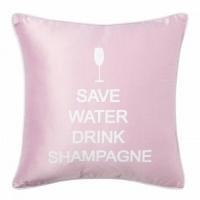 Подушка с надписью Save Water Drink Shampagne DG Home Pillows