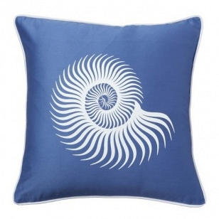Подушка с принтом Sea Shell Diamond-Blue DG Home Pillows DG-D-PL11B