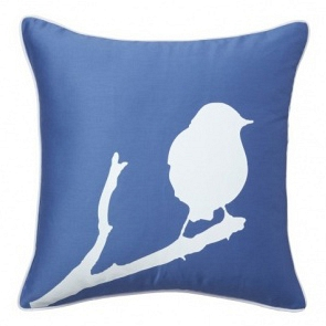 Подушка с принтом Lone Bird Diamond-Blue DG Home Pillows DG-D-PL12B