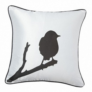 Подушка с принтом Lone Bird White DG Home Pillows DG-D-PL15W