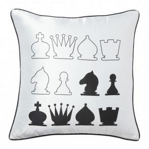 Подушка с принтом Chess White DG Home Pillows DG-D-PL16W