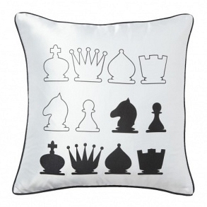 Подушка с принтом Chess White DG Home Pillows DG-D-PL16W