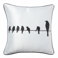 Подушка с принтом Birdies On A Wire White DG Home Pillows