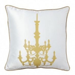 Подушка с принтом Chandelier White DG Home Pillows DG-D-PL18W