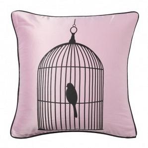 Подушка с принтом Birdie In A Cage Pink DG Home Pillows DG-D-PL20P
