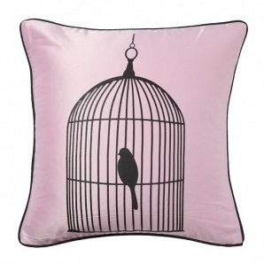 Подушка с принтом Birdie In A Cage Pink DG Home Pillows DG-D-PL20P