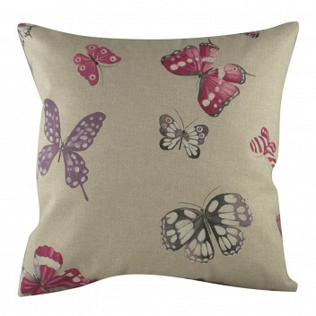 Подушка с принтом Pink Butterflies DG Home Pillows DG-D-PL221