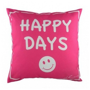 Подушка с надписью Happy Days DG Home Pillows DG-D-PL224