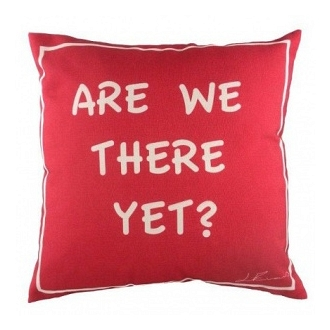 Подушка с надписью Are we there yet? DG Home Pillows DG-D-PL225