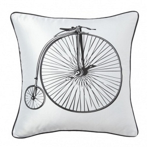 Подушка с принтом Retro Bicycle White DG Home Pillows DG-D-PL22W