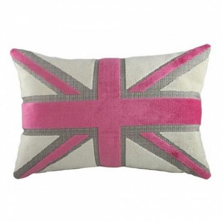 Подушка с британским флагом Pink Velvet DG Home Pillows DG-D-PL236