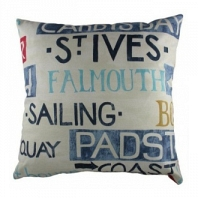 Большая подушка с надписями Seaport DG Home Pillows