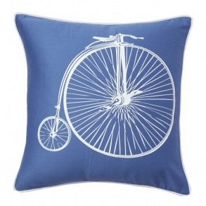 Подушка с принтом Retro Bicycle Blue DG Home Pillows DG-D-PL23B