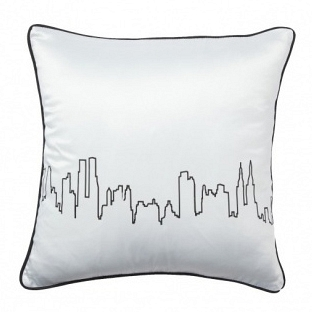 Подушка с принтом City Waves White DG Home Pillows DG-D-PL25W