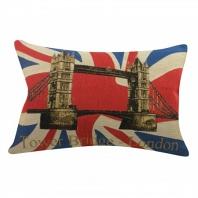 Подушка с британским флагом Tower Bridge DG Home Pillows