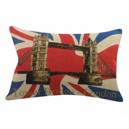 Подушка с британским флагом Tower Bridge DG Home Pillows DG-D-PL265