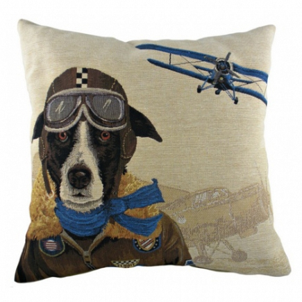 Подушка с принтом Doggie Fighters Blue DG Home Pillows DG-D-PL275