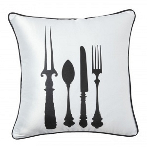 Подушка с принтом Tableware White DG Home Pillows DG-D-PL27W
