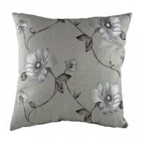 Подушка с орнаментом Gray  Flowers DG Home Pillows