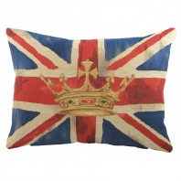 Большая подушка с британским флагом Crown Blue DG Home Pillows