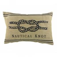 Подушка с надписью Nautical Knot Natural DG Home Pillows