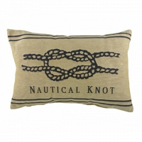 Подушка с надписью Nautical Knot Natural DG Home Pillows
